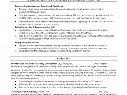 Sample Painter Resume by Industrial Painter Sample Resume Lease Format Consultant