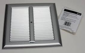 broan bathroom fan replacement bp24 broan bath bathroom ceiling fan grille grill cover metal silver