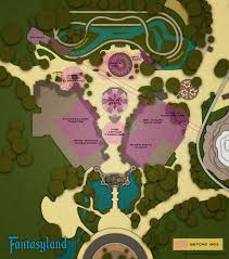 Map Of Disney World Parks New Fantasyland 1983 Imagineering Disney