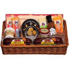 sausage gift baskets deli direct wisconsin cheese sausage large gift basket 14 pc ebay