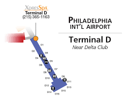 philadelphia international airport map xpresspa com philadelphia phl airport spa at terminal d near
