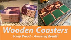 how to make wooden drink mat coaster scrap wood youtube