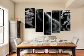 black and white dining room 5 piece black and white wall art