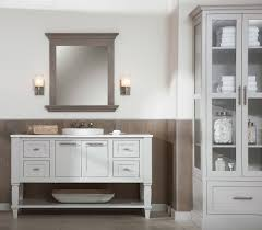 linen cabinet with glass doors bath furniture cabinets custom furniture design for bathrooms