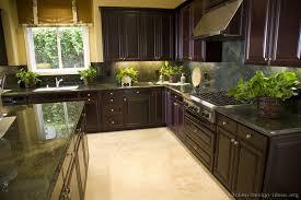 traditional dark wood black espresso kitchen cabinets 13