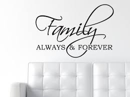 family always forever decal wall quote decal wall words