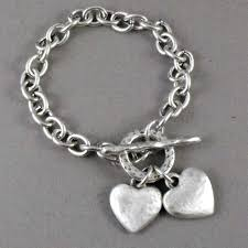 bracelet chain heart silver images Danon silver bracelet chunky silver hearts free p p jpg