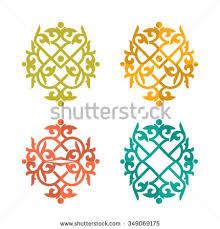 kazakh ornament abstract ornament stock vector 349069175