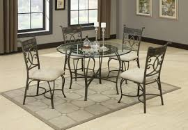 Dining Room Glass Table by Table And Chairs Kitchen Dinette Sets Glass Dining Room Round