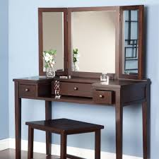 Mirrored Vanity Stool Diy Vintage Vanity Table With Drawer And 3 Fold Mirror Set With