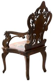 Bedroom Sets With Hidden Compartments Elaborately Carved Black Forest Armchair With Hidden Compartment