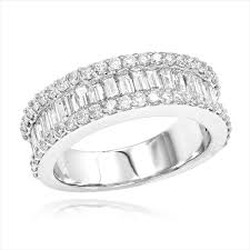 baguette diamond band diamond bands 14k gold baguette diamond band 1 84