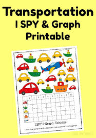 transportation i spy u0026 graph printable time snippets