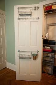 make a hinged mirror and hang it on a closet door attach a hook
