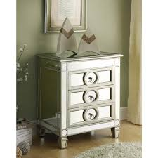 Mirrored Console Table Monarch Specialties Mirrored Storage Console Table I 3701 The