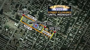 New York City Subway Street Map by Pope Francis Visit Nyc Street Closures Subway Bus Transit