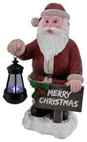 Solar Lighted Outdoor Christmas Decorations by Merry Christmas Holiday Greeter Santa Claus Solar Led Lantern