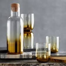 Roost Home Decor Golden Ombre Decanter By Roost Seven Colonial