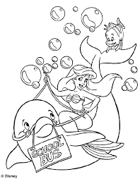 picture ariel mermaid kids coloring