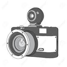 hand drawn of vector camera royalty free cliparts vectors and