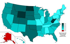 map us states world economies list of u s states by economic growth rate
