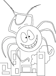 factory spider free entry coloring pages download free