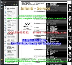 full set infiniti workshop manual and electrical wiring diagrams