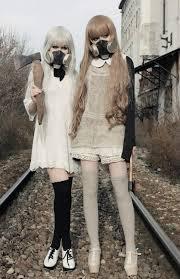 Gas Mask Costume Apocalypse Girls Despite The Creepy Gas Masks The Dresses Are