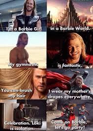 Barbie Girl Meme - i m a barbie girl marvel pinterest marvel marvel dc and thor