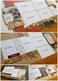 Photo Pages 4x6 83 Best Scrapbook Double Pages Images On Pinterest Scrapbook