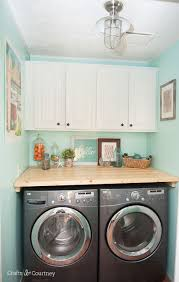 laundry room cabinet makeover crafts satin and just love