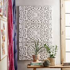 shining design wood carved wall decor antique balinese panel