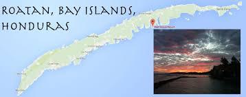 map of roatan honduras map jpg