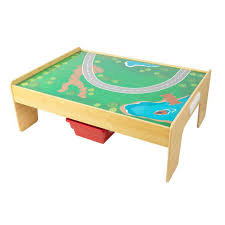 fold up train table adventure town railway train set table with ez kraft assembly