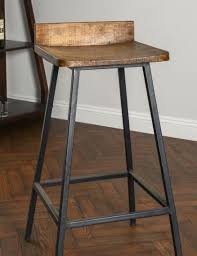 rustic industrial bar stools square wooden seat bar stool high chair kitchen counter metal