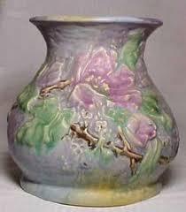 Weller Pottery Vase Patterns Weller Pottery Silvertone Floral Vase American Ceramics