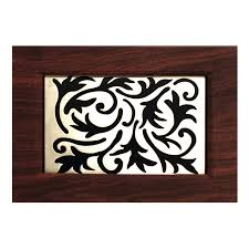 shop heath zenith dark wood with satin nickel scrollwork insert