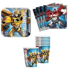 transformer party supplies transformers birthday party supplies set plates