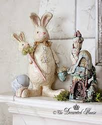 Easter Decorations Mantel by The Decorated House