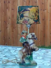 vintage western cowboy horse lamp shade 1950 s high grade kids vintage western cowboy horse lamp shade 1950 s high grade kids room decor