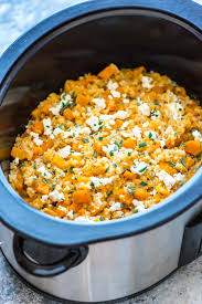 thanksgiving risotto recipe slow cooker risotto with butternut squash and goat cheese