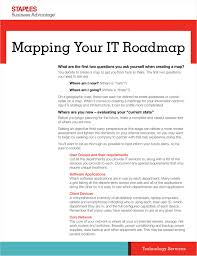 What Is A Road Map Mapping Your It Roadmap Free Staples Business Advantage White Paper