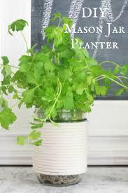 herb planter diy mason jar herb planters 10 minute diy twelve on main