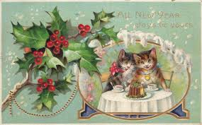 new year s postcards a vintage happy new year