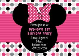 minnie mouse birthday invitations u2013 gangcraft net