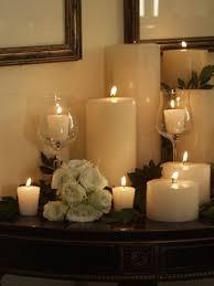 candle arrangement per calaixera amb dos o trs copes de vidre i