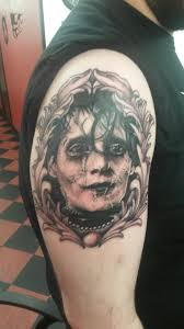 edward scissorhands portrait done by ryan at voodoo tattoo in