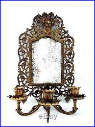 Mirror With Candle Sconces Vintage Bradley And Hubbard Brass Wall Sconce Mirror With 3