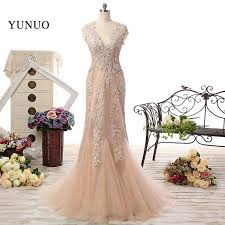 Champagne Wedding Dresses Aliexpress Com Buy V Neck Lace Wedding Dresses 2016 Long A Line