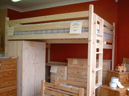 wooden queen size loft bed frame bed and shower most useful